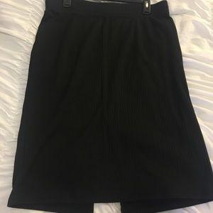 Black staple skirt with split in the back!